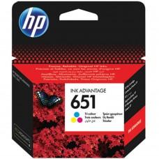 Cartus cerneala ORIGINAL HP 651 tricolor C2P11AE