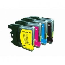 Set 4 cartuse ORINK compatibile cu Brother inkjet LC1100XL culoare 1 BK + 1M + 1C+ 1Y