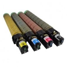 Set 4 cartuse toner, GraphiteK, compatibil Ricoh Aficio MP C2000, C2500, C3000 , 20.000 pagini BK/C/M/Y OEM 888636