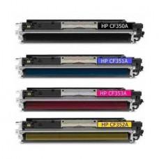 Set 4 buc Cartus Toner CF350A, CF351A, CF352A, CF353A Compatibil
