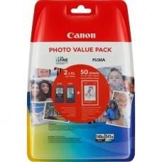 Set cartuse originale Canon PG540XL/ CL541XL+hartie foto GP-501