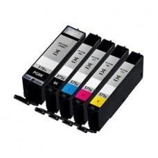 Set 5 Cartuse XL pentru Canon Compatibile cu PGI-570XL+CLI-571XL
