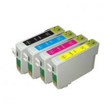 Set 4 cartuse compatibile Epson T0711BK T0712CY T0713M T0714Y