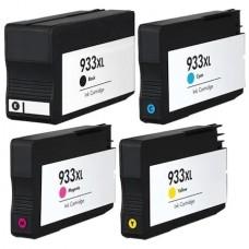 Set 4 cartuse compatibile HP 932XL Black HP933XL Cyan Magenta Yellow