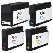 Set 4 Cartuse, MY OFFICE, compatibile HP 950XL-BK 951XLCyan/ 951XL Magenta/ 951XL Yellow compatibile HP