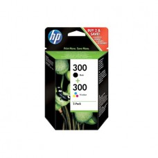 Set 2 cartuse Original HP300 negru si color