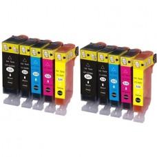 Set 10 cartuse cerneala, GraphiteK, compatibile Canon PGI-525Bk, CLI-526C, CLI-526M, CLI-526Y