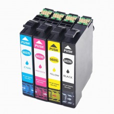 Set 4 cartuse cerneala, HQ, compatibil EPSON T502Xl , negru si tricolor, 49 ml, Epson