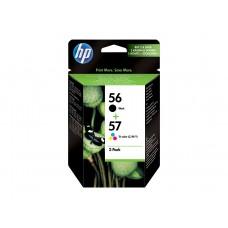 Pachet cu 2 cartuşe de cerneală originale HP 56 Negru / 57 Tri-color SA342AE