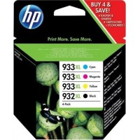 Set 4 cartuse cerneala ORIGINAL HP extralarge 932XL 933M-XL 933C-XL 933Y-XL